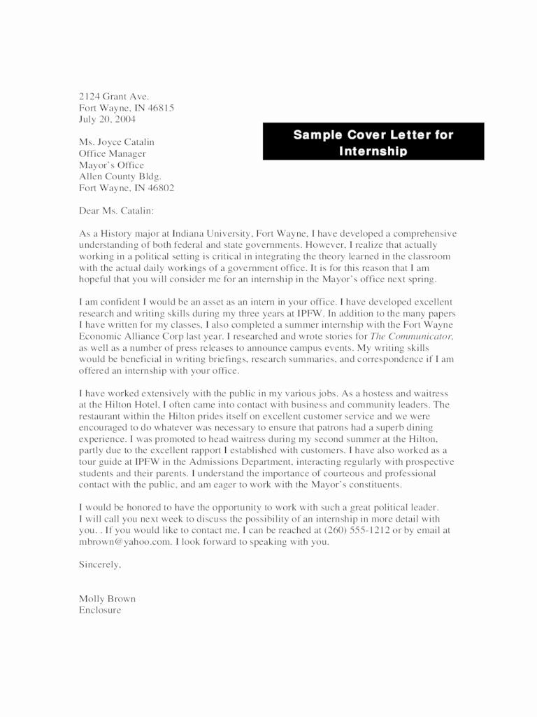 Cover Letter format Internship Beautiful Internship Application Letter Kenya