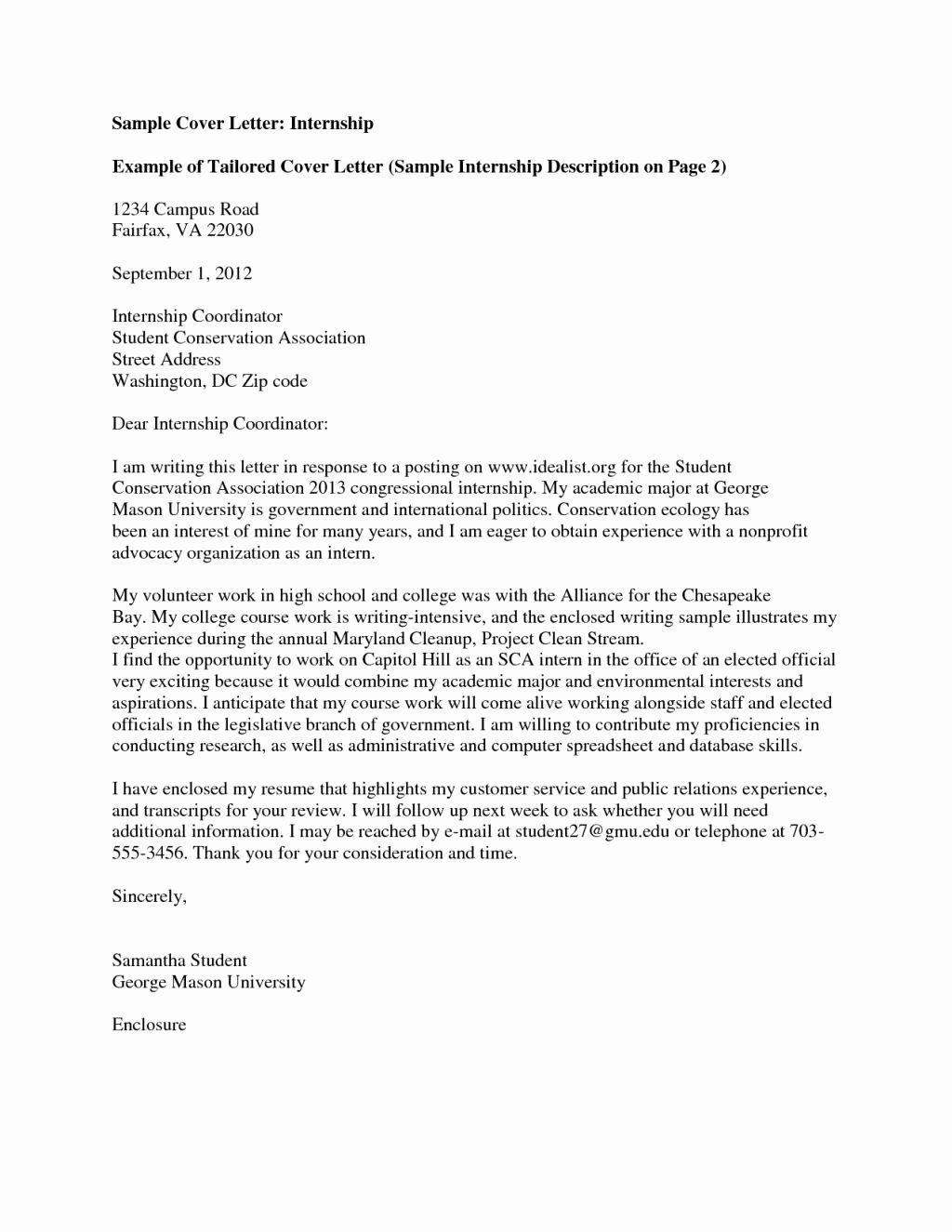 Cover Letter format Internship Unique Cover Letter Uk 2013