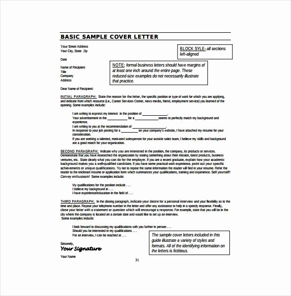 Cover Letter format Pdf Awesome 17 Resume Cover Letter Templates – Free Sample Example