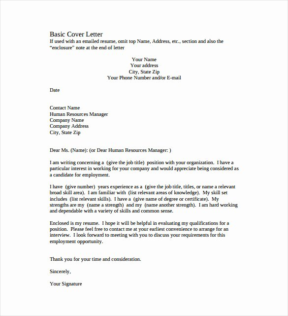 Cover Letter format Pdf Beautiful 51 Simple Cover Letter Templates Pdf Doc