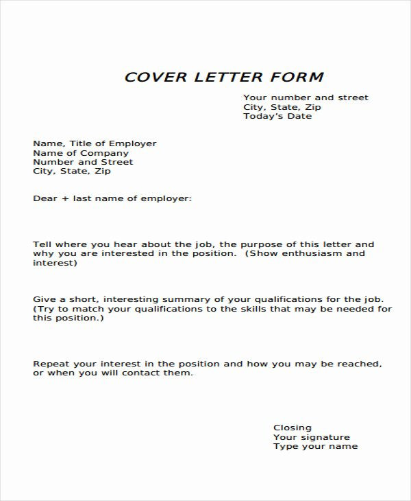 Cover Letter format Pdf Elegant 34 Letter Templates In Pdf Free Pdf Documents Download