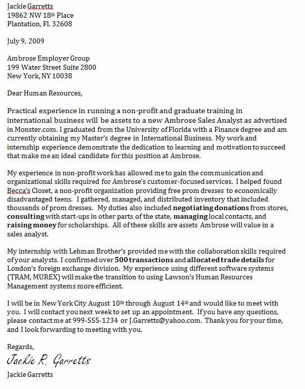 Cover Letter format Uf Fresh Mcnair Workshop Cover Letters