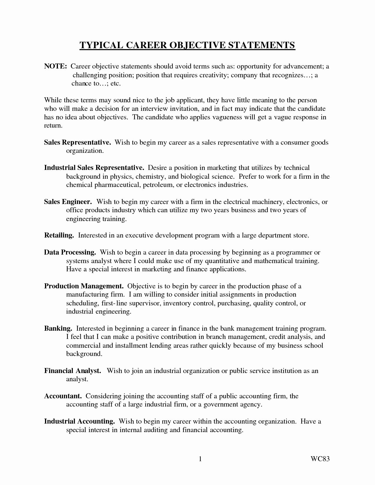 Cover Letter format Uf Inspirational Typical Career Objective Statements Career Statements