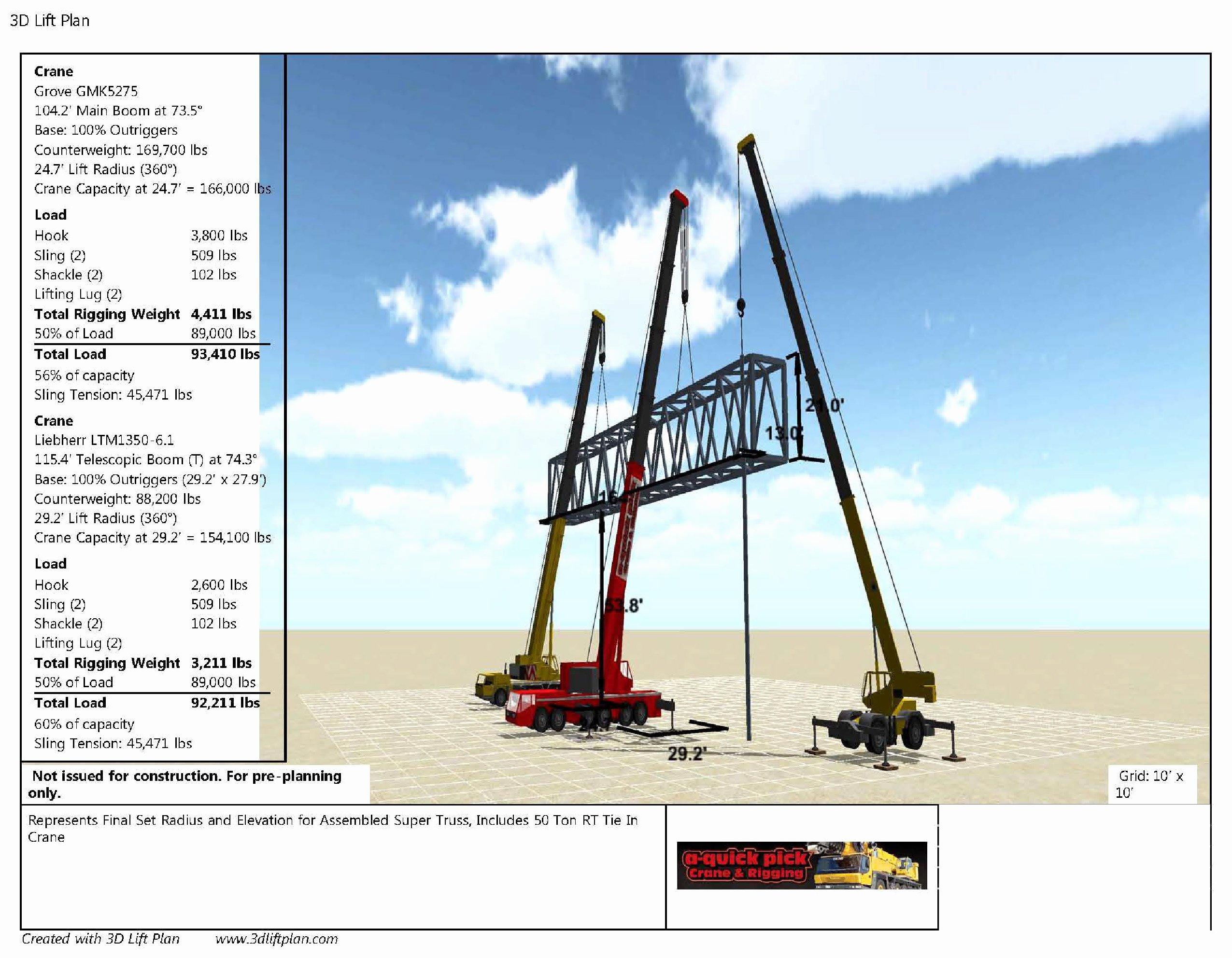 Crane Lift Plan Template Beautiful Crane Lift Plan