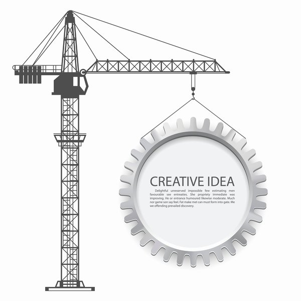 Crane Lift Plan Template Fresh Crane Lifts with Gear Creative Template Vector Free