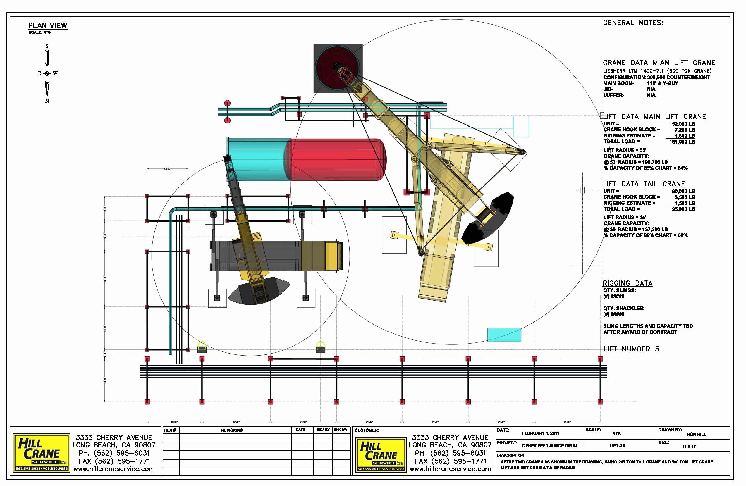 Crane Lift Plan Template Unique Lift Plan Rigging Plan T