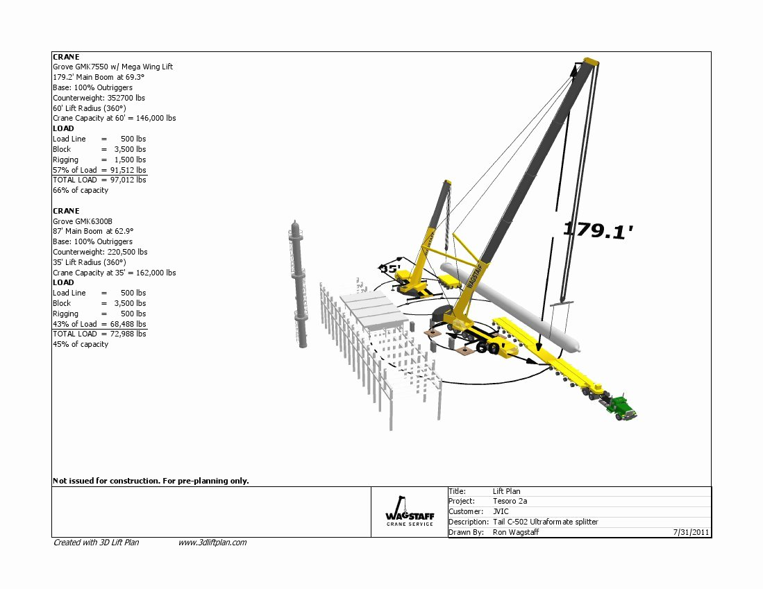 Crane Lifting Plan Template Awesome 3d Lift Plan Crane Lift Planning software