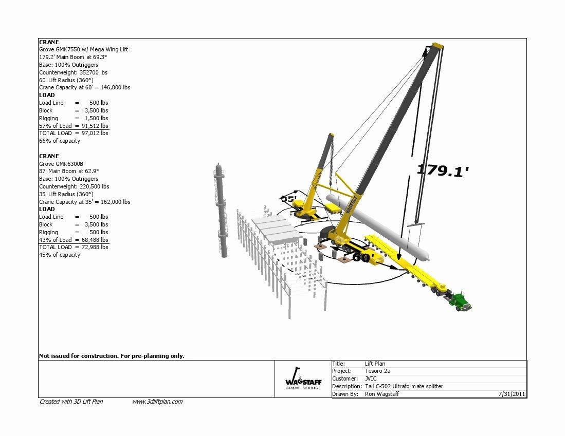 Crane Lifting Plan Template Awesome 3d Lift Plan Crane Lift Planning software