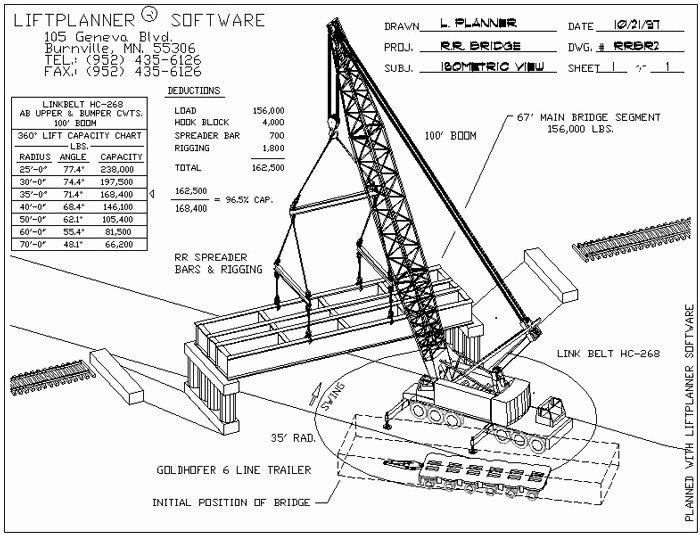 Crane Lifting Plan Template Elegant Lift Plan Rigging Plan T