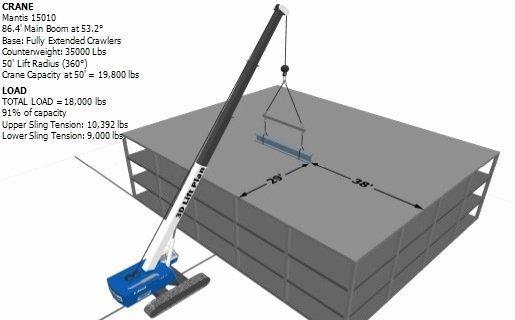 Crane Lifting Plan Template Luxury 3d Lift Plan Crane Lift Planning software