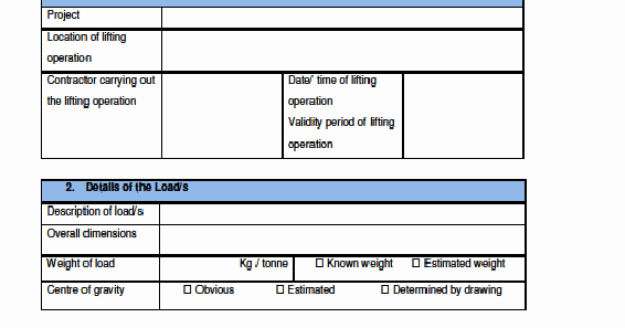 Crane Lifting Plan Template New Workplace Safety and Health Resources Workplace Safety and