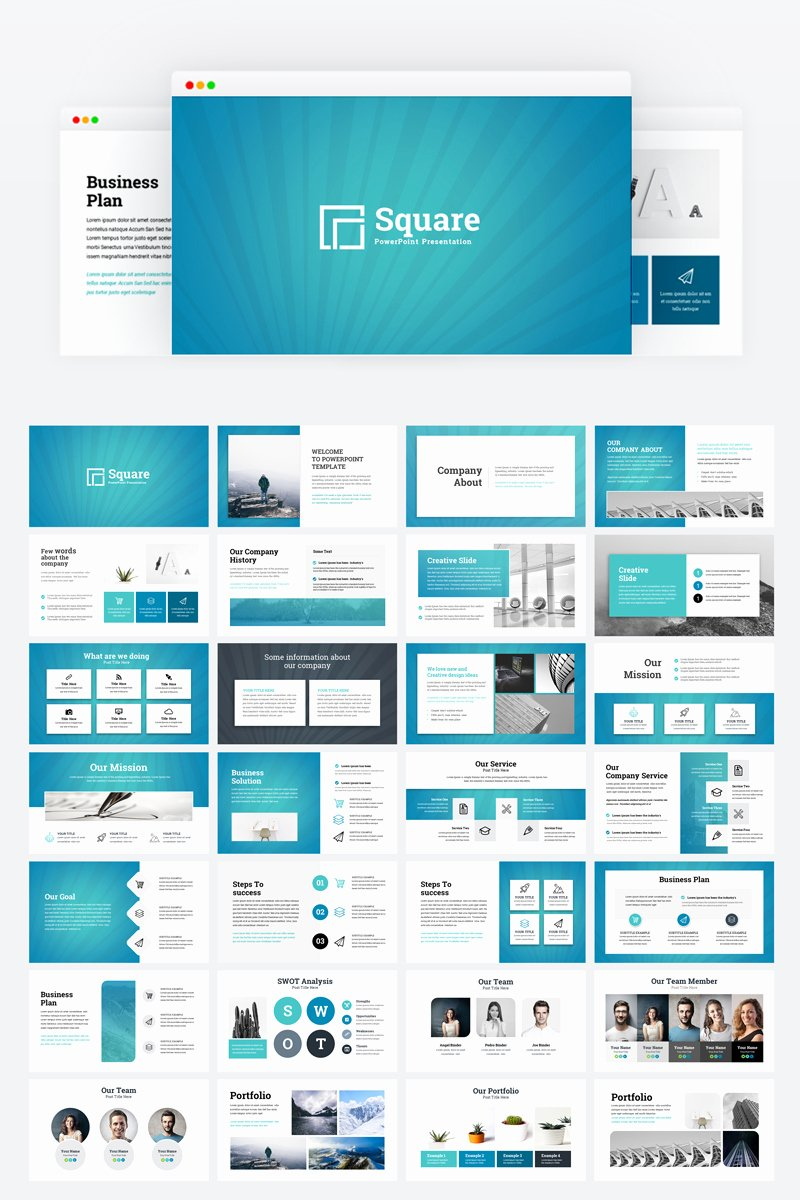 Creative Business Plan Template Best Of Square Creative Modern Business Plan Powerpoint Template