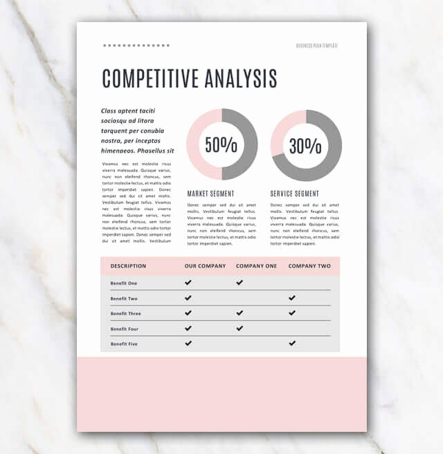 Creative Business Plan Template Elegant Business Plan Template Pink & Stylish In Word for Free