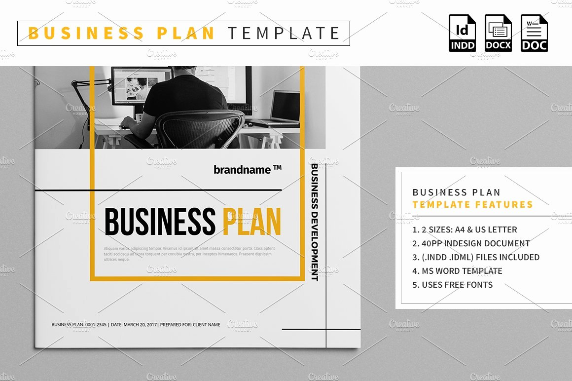 Creative Business Plan Template Inspirational Business Plan Template Stationery Templates Creative