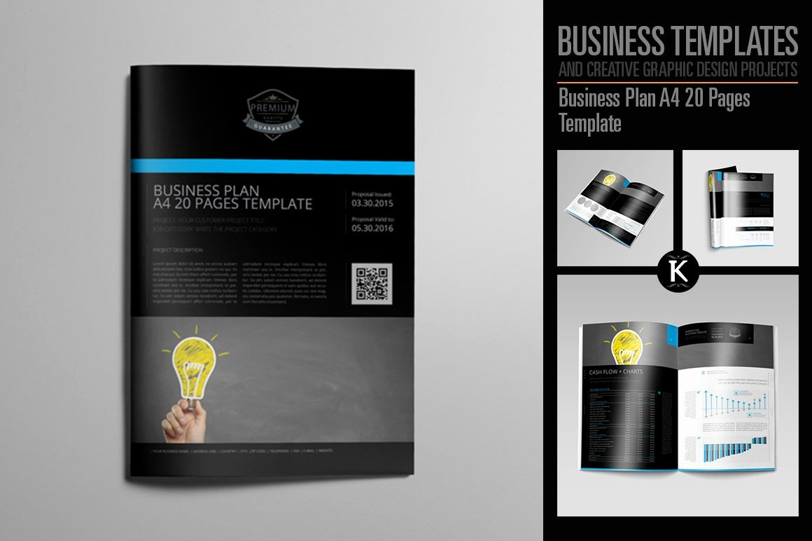 Creative Business Plan Template New Business Plan A4 20 Pages Template Templates Creative
