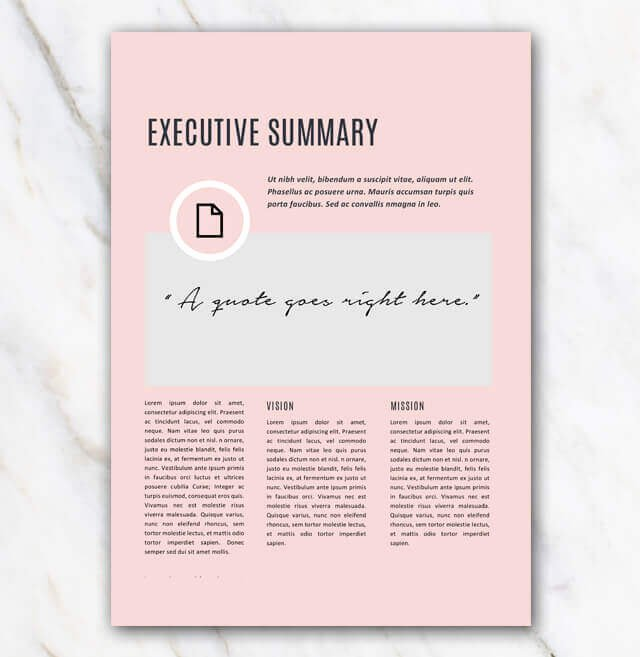 Creative Business Plan Template New Business Plan Template Pink & Stylish In Word for Free