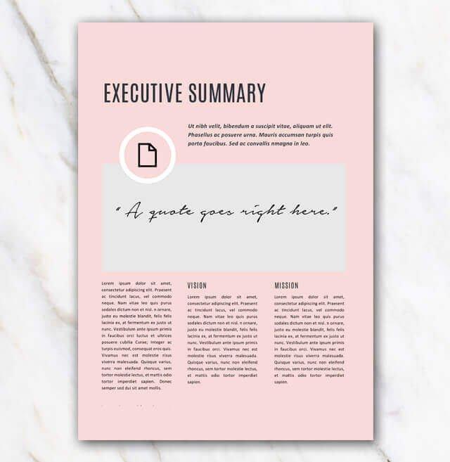 pink creative template