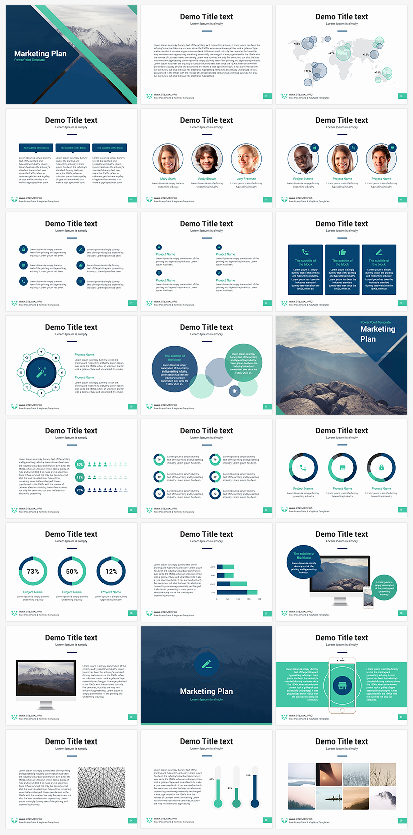 Creative Business Plan Template New Marketing Plan Free Powerpoint Template Present