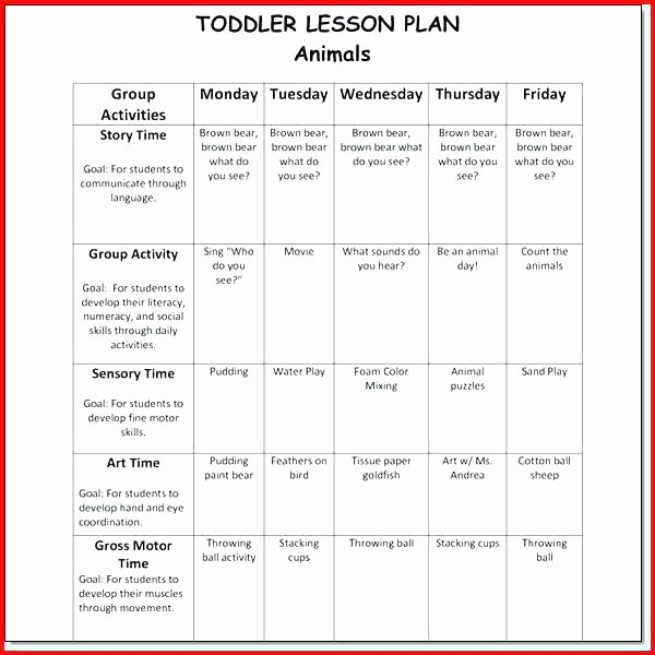 Creative Curriculum Lesson Plan Template Awesome Infant Lesson Plan Template Creative Curriculum Blank New