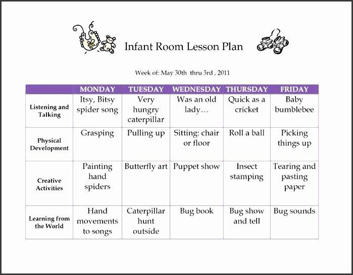 Creative Curriculum Lesson Plan Template Inspirational 6 Creative Curriculum Preschool Lesson Plan Template