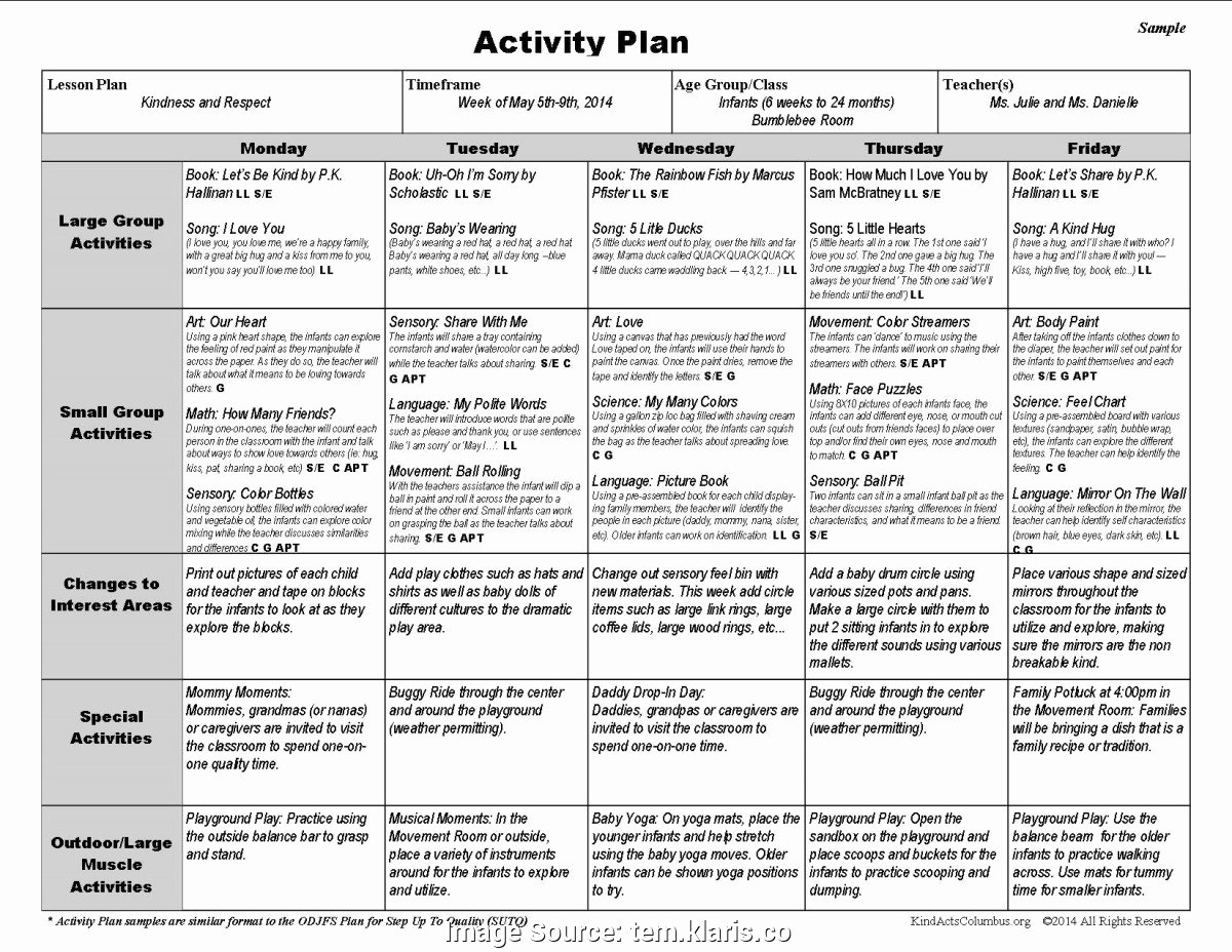Creative Curriculum Lesson Plan Template Luxury Briliant Creative Curriculum Lesson Plans Infants Creative