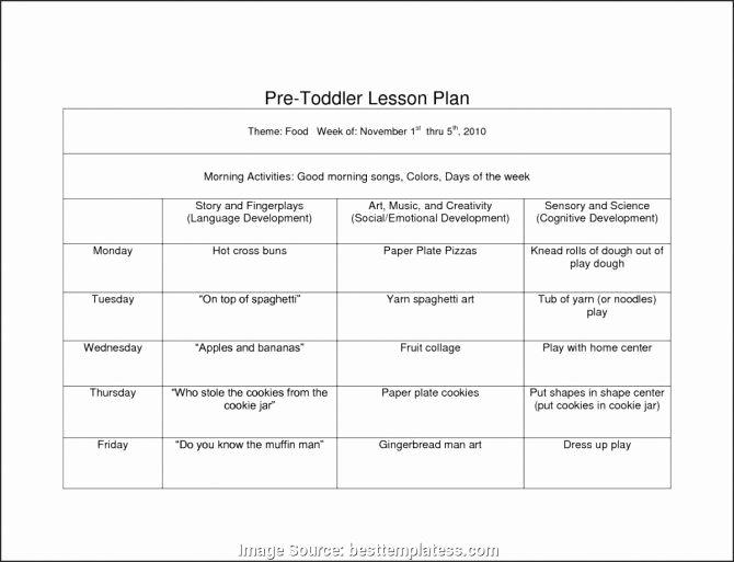 Creative Curriculum Lesson Plan Template Unique Free Infant Curriculum Lesson Plans – Weekly Lesson Plan