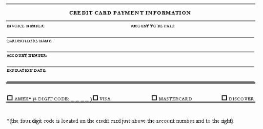 Credit Card Slip Template Awesome 5 Credit Card Authorization form Templates Free Sample
