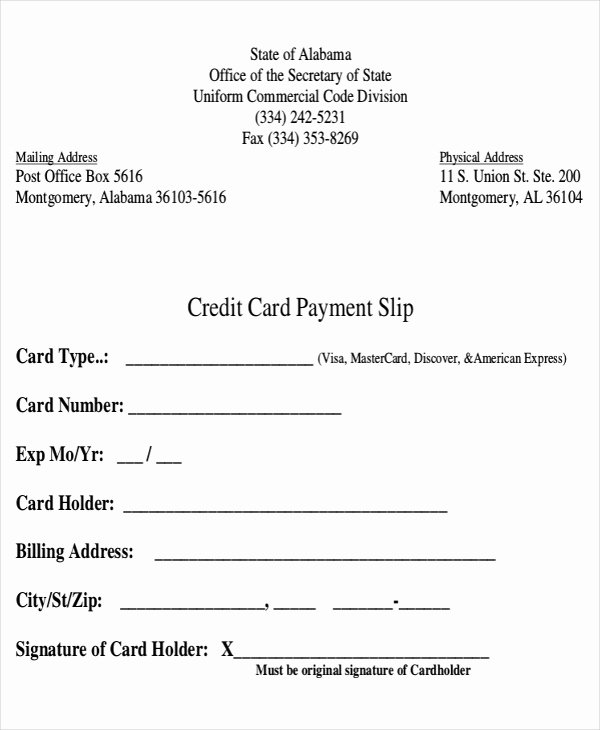 Credit Card Slip Template Best Of 11 Slip Templates Free Sample Example format