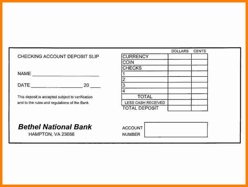 Credit Card Slip Template Best Of 7 Deposit Slips Template
