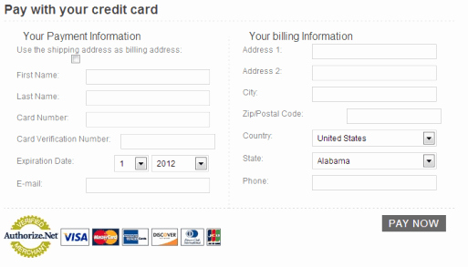 Credit Card Slip Template Fresh 5 Free Credit Card Payment form Templates Free Sample