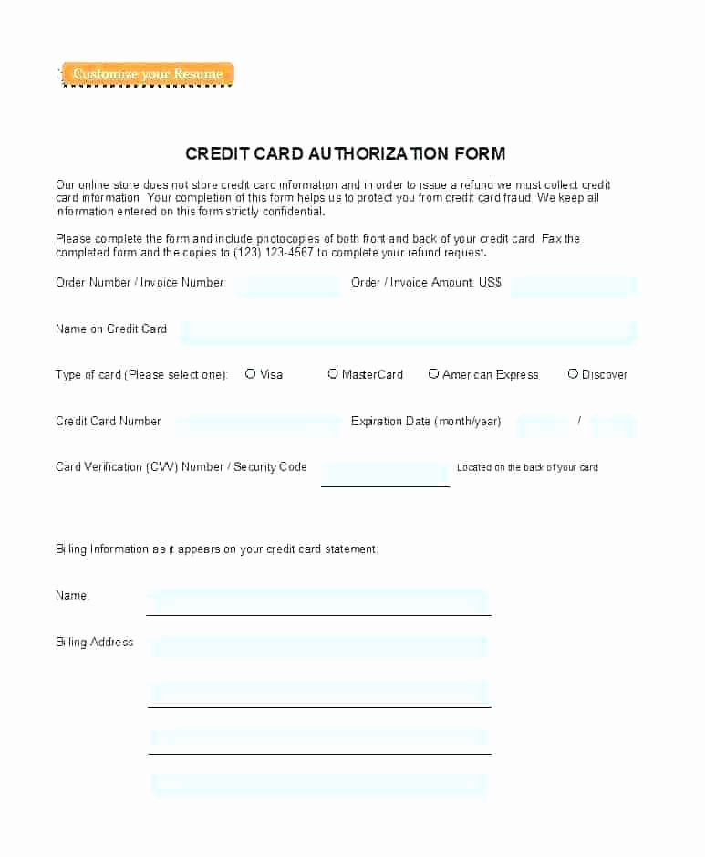 Credit Card Slip Template Fresh Direct Deposit Authorization form Templates Template