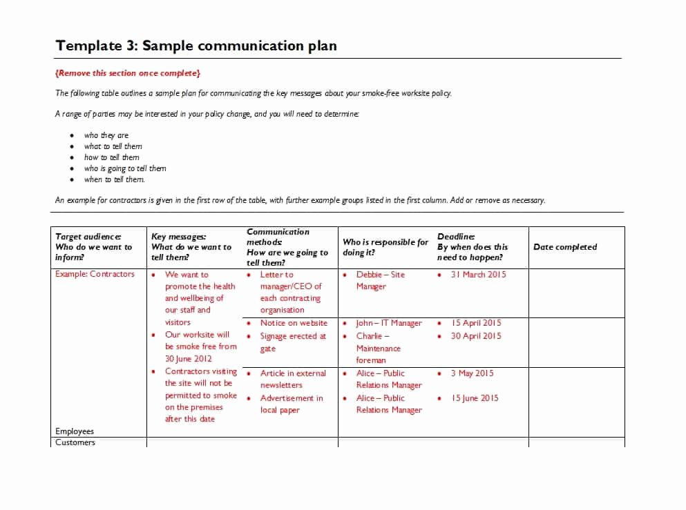 Crisis Communication Plan Template Fresh 37 Simple Munication Plan Examples Free Templates