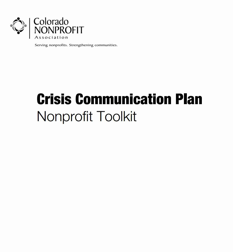 Crisis Communication Plan Template New Crisis Munication Plan Nonprofit toolkit