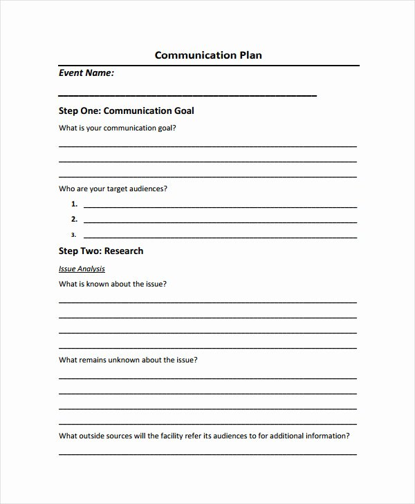 Crisis Communication Plan Template New Free Munication Plan Templates 37 Free Word Pdf
