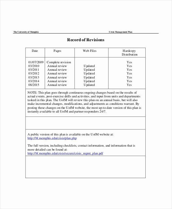 Crisis Communication Plan Template Unique Crisis Plan Template 10 Word Pdf Google Docs Apple