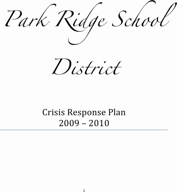 crisis plan templates