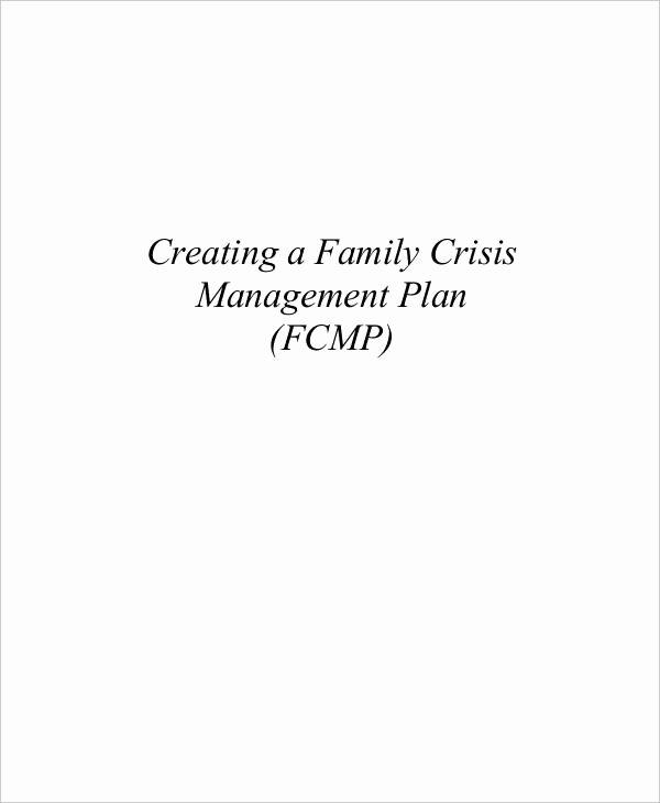 Crisis Management Plan Template Inspirational Crisis Management Plan Templates 10 Free Word Pdf