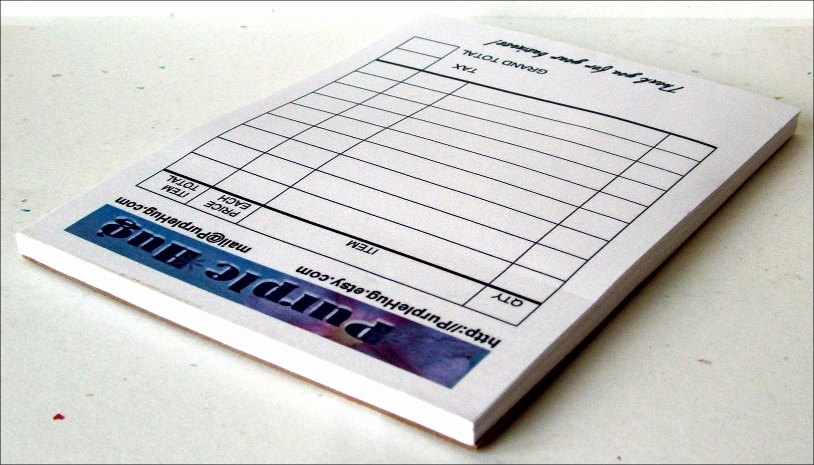 Custom Printed Receipt Books Beautiful Custom Sales Receipt Pads Set Of 2 Personalized Color