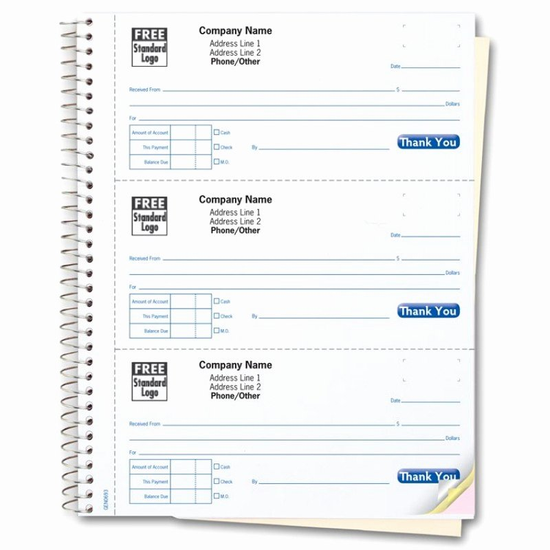 Custom Printed Receipt Books Fresh Custom Receipt Books Color Collection 693t at Print Ez