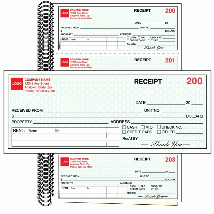 Custom Printed Receipt Books Inspirational Rent Receipt Book with Logo Imprint Two Parts