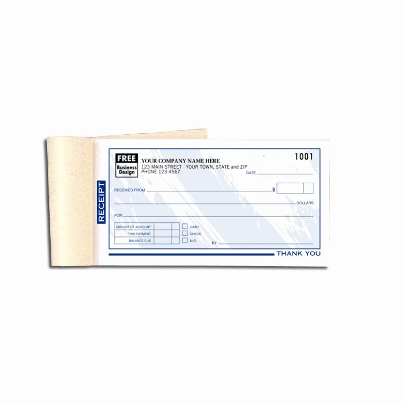 Custom Printed Receipt Books Lovely Custom Receipt Books Color Collection 693t at Print Ez