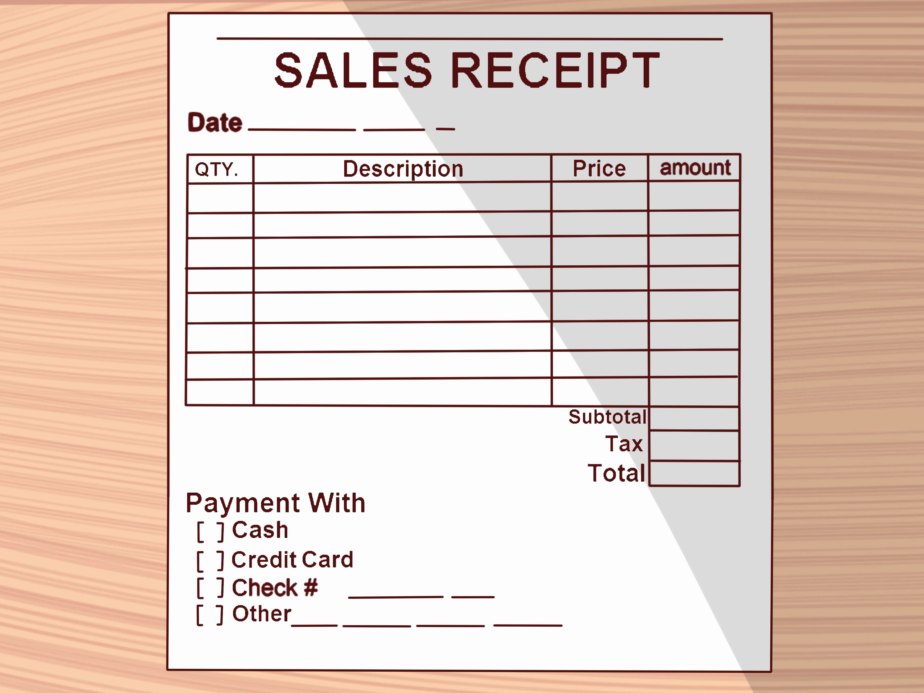 Custom Sales Receipt Book Luxury How to Write A Receipt 9 Steps with Wikihow