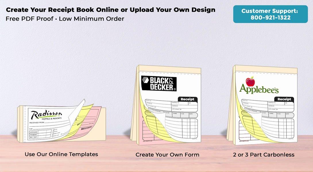 "Custom Sales Receipt Book Unique Ncr Sales Receipt Books 5 5"" X 8 5"""