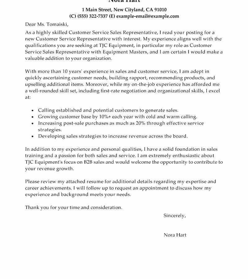 Customer Service Recommendation Letter Lovely Customer Service Representative Cover Letter – Trezvost