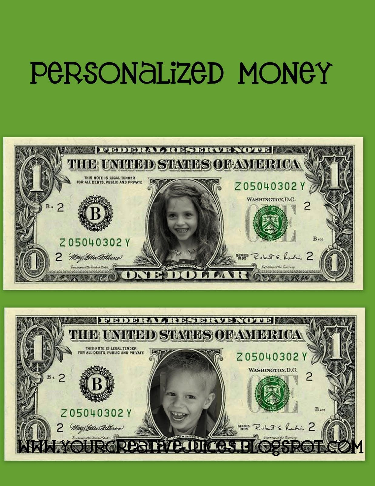 Customizable Fake Money Template Awesome Find This at Festisite Money Add Kids Pic and Use as