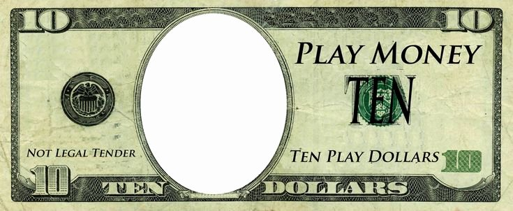 Customizable Fake Money Template Beautiful Play Money Template Play Money Templates