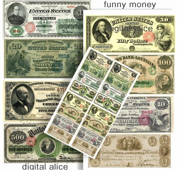 Customizable Fake Money Template Best Of Fake Money Antique Currency Dollar Bills Digital Download
