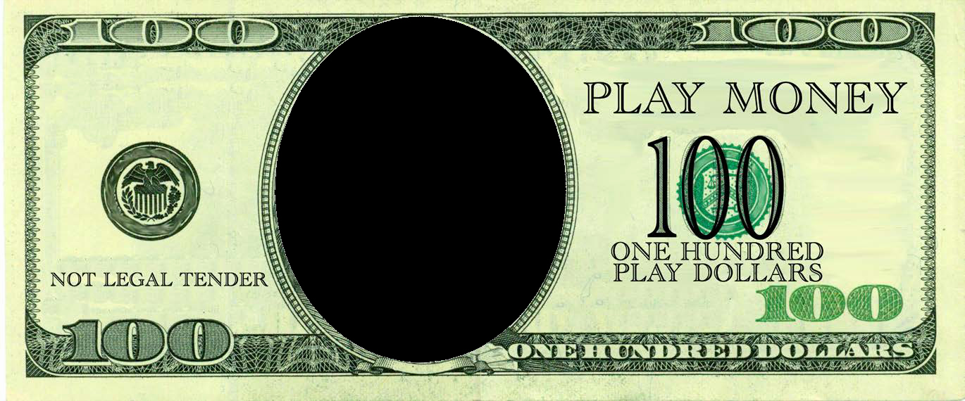 Customizable Fake Money Template Elegant Free 100 Dollars Play Money