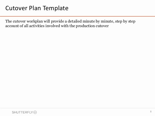 Cutover Plan Template Excel Inspirational Cutover Strategy