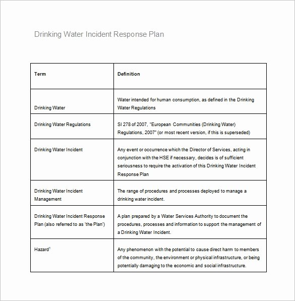 Cyber Incident Response Plan Template Beautiful 8 Incident Response Plan Templates Pdf Doc